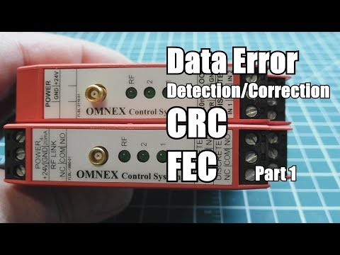 Data Error Detection and Correction  / CRC  FEC     Part 1