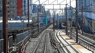 東武スカイツリーライン竹ノ塚駅付近高架化工事区間前面展望 2020.2
