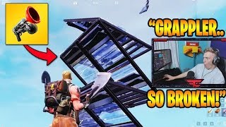 TFUE SHOWS OP GRAPPLER GLITCH! *NOT PATCHED* (Fortnite Stream Highlights)
