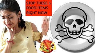 FOOD YOU MUST AVOID IF U WANT TO LOSE WEIGHT | NEVER EAT these foods to LOSE BELLY FAT FAST