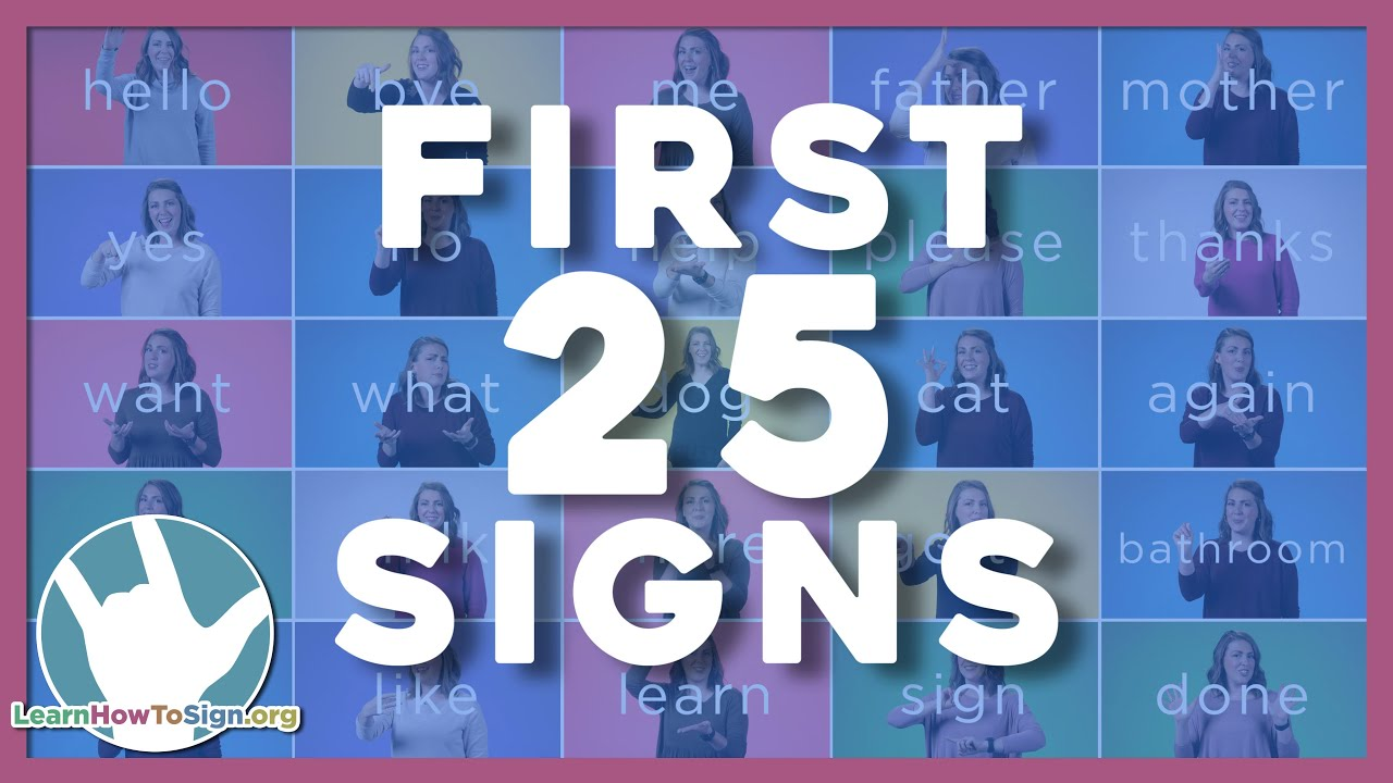 Download 25 ASL Signs You Need to Know   ASL Basics   American Sign Language for Beginners