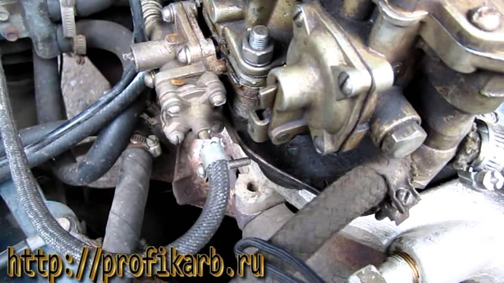 Ремонт карбюратора - установка