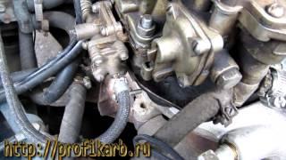 Ремонт карбюратора - установка вакуумных шланг к-151