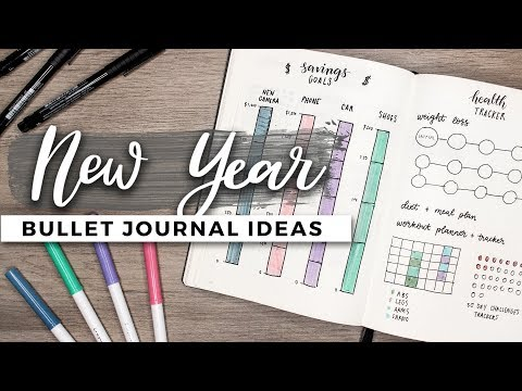 Bullet Journal Ideas for the New Year!