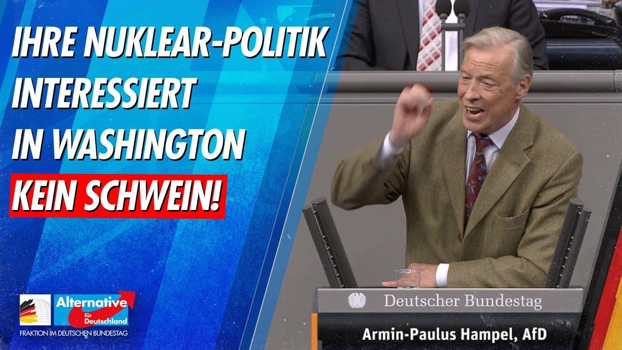 AfD-Fraktion Bundestag - Ihre Politik interessiert in Washington kein Schwein!