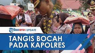 Viral Bocah Penjual Onde-onde Nangis Terobos Polisi, Temui Kapolres Padang Panjang yang Pindah Tugas
