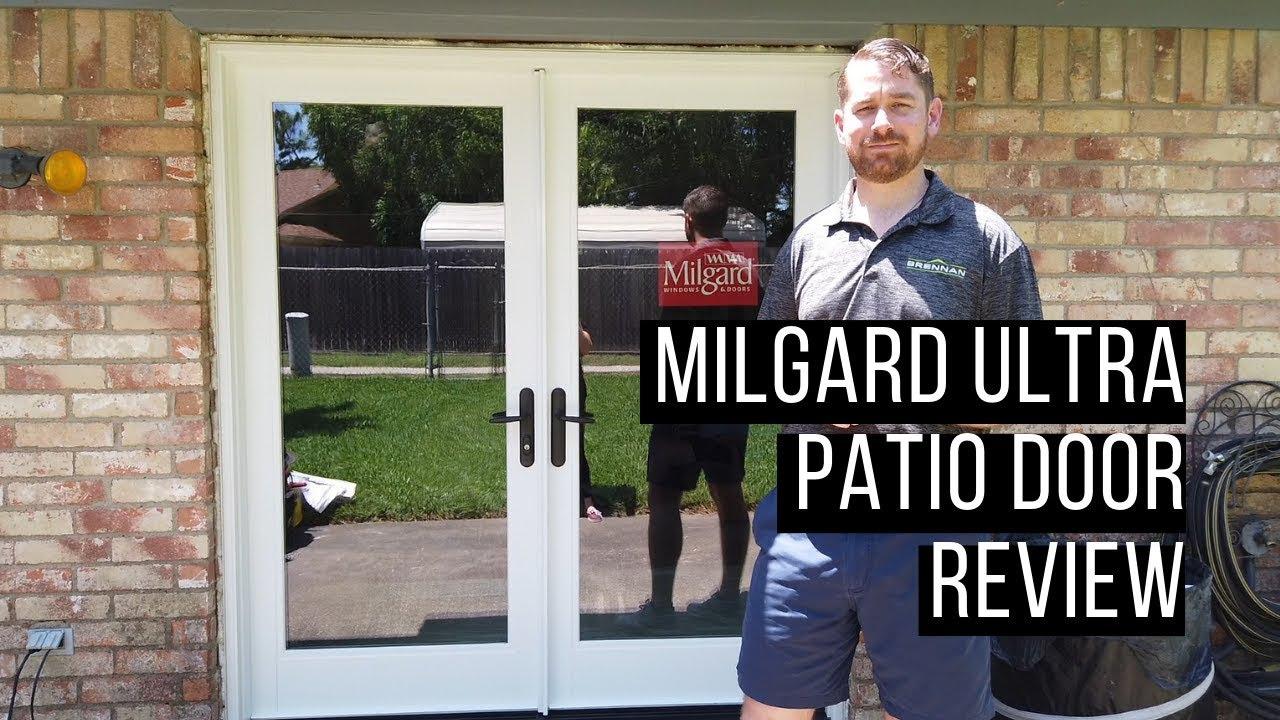 Milgard Ultra Fiberglass Hinged Patio Door Review Youtube