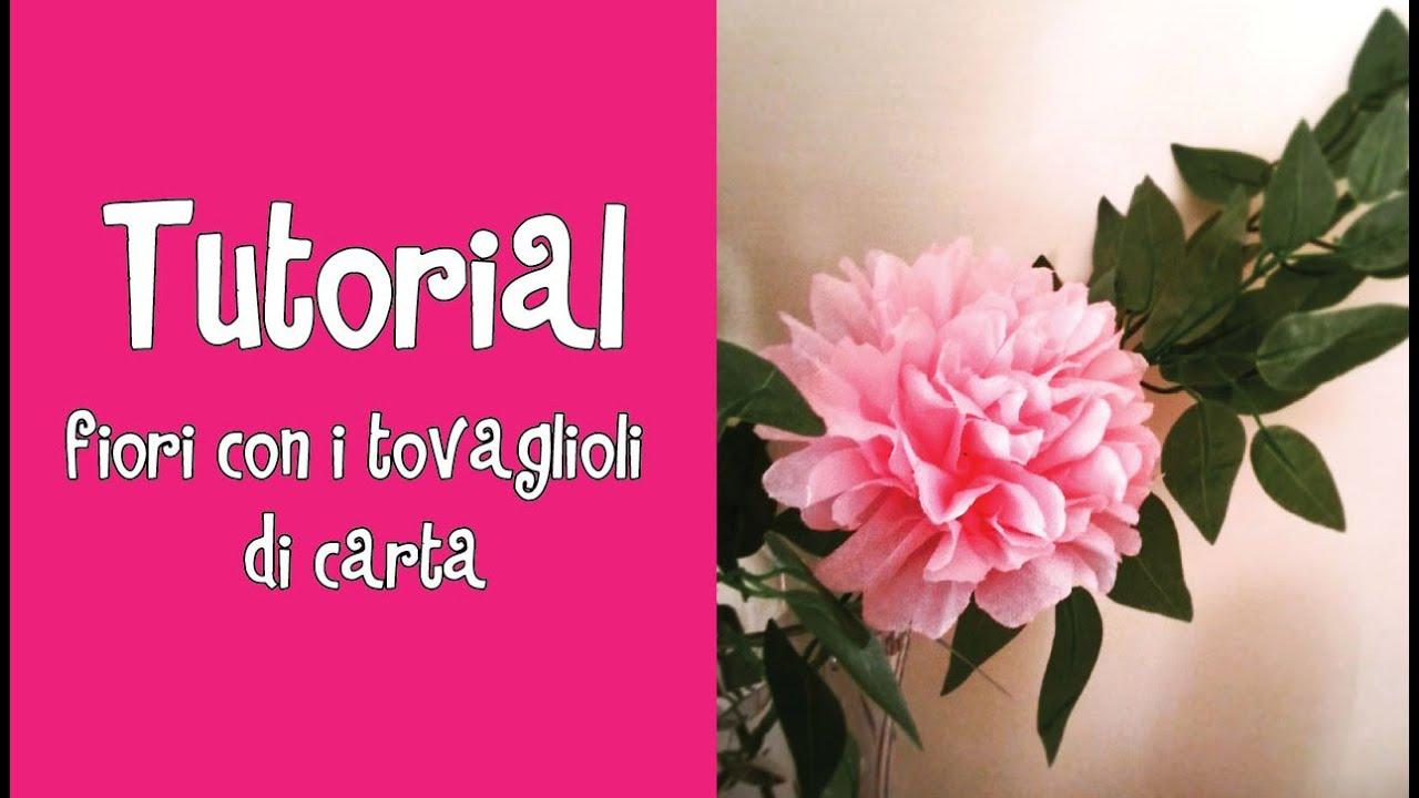 Tutorial fiori con i tovaglioli di carta facilissimi - Decorazioni con fazzoletti di carta ...