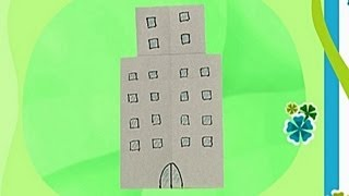 How To Make A Paper Building  Tutorial  - Paper Friends 20 | Origami For Kids