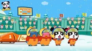 Baby Panda's Sled Race | Winter Sport Meeting | Kids Song & Cartoon | BabyBus