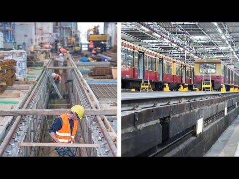 In Friedrichsfelde werden künftig S-Bahnen blitzeblank gemacht