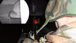 Pest Control with Air Rifles - Sniper Cam Rat Shooting - Red Glow