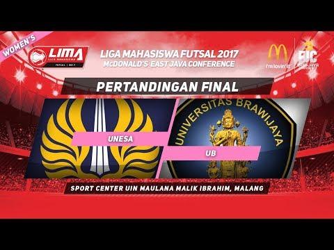UNESA vs UB di FINAL LIMA Futsal McDonald's East Java Conference 2017 (Women's)