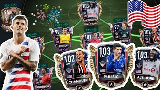 SAUCED UP FULL USA SQUAD BUILDER! FIFA MOBILE 20! 500 MILLION COINS! HAPPY 4TH OF JULY!