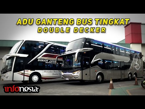 ADU GANTENG! 5 Varian Bus Tingkat Double Decker di Indonesia