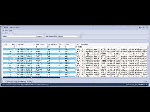 Timeline Explorer 0 6 0 column pinning demo