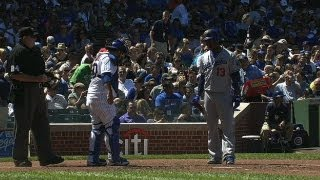 Hanley lays his bat too close to Navarro