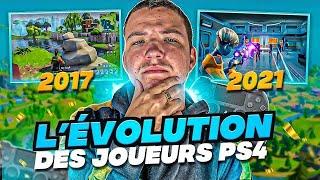 L'ÉVOLUTION DES JOUEURS PS4 sur FORTNITE (2017-2021)