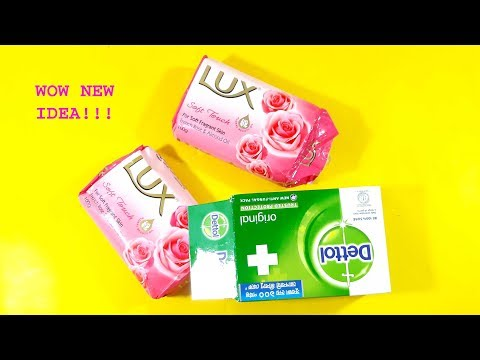 recycling lux soap packet reuse idea & Beautiful home deco | Waste material craft idea