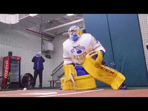 Hutton hits the cages