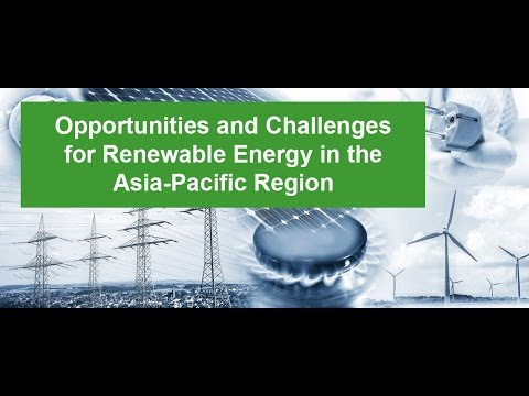 Webinar: Challenges and Opportunities for Renewable energy in the Asia Pacific Region