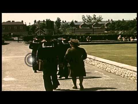 American Navy personnel and British women service personnel during the Invasion o...HD Stock Footage