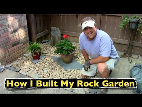 How i built my rock garden backyard landscaping youtube How to make a small garden