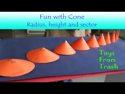 Fun with Cone   English   How to make different sizes of cone form paper