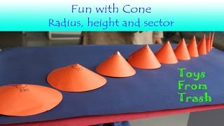 Fun with Cone | English | How to make different sizes of cone form paper