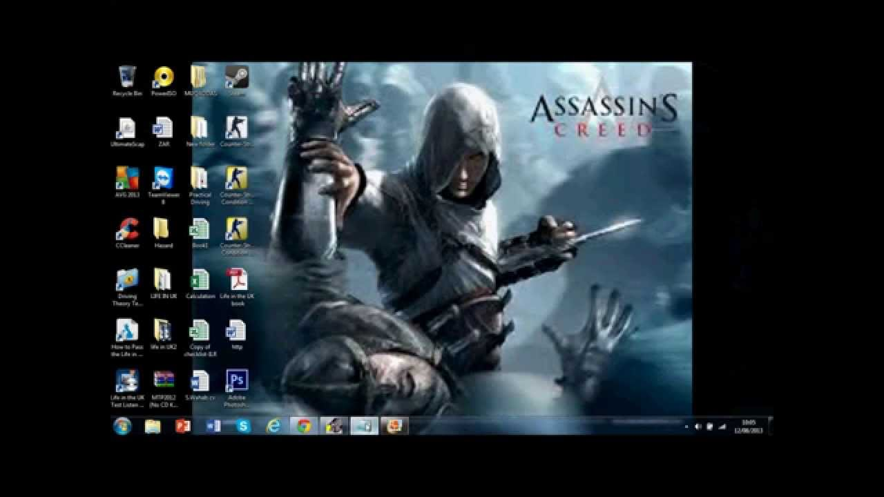 How to make your desktop background clear and not blurry - YouTube