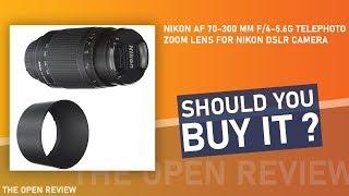 Nikon AF 70-300 mm f 4-5 6G Telephoto Zoom Lens for Nikon DSLR Camera