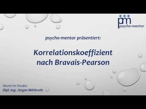 Statistik - Korrelationskoeffizient Bravais Pearson - Psycho-Mentor.de