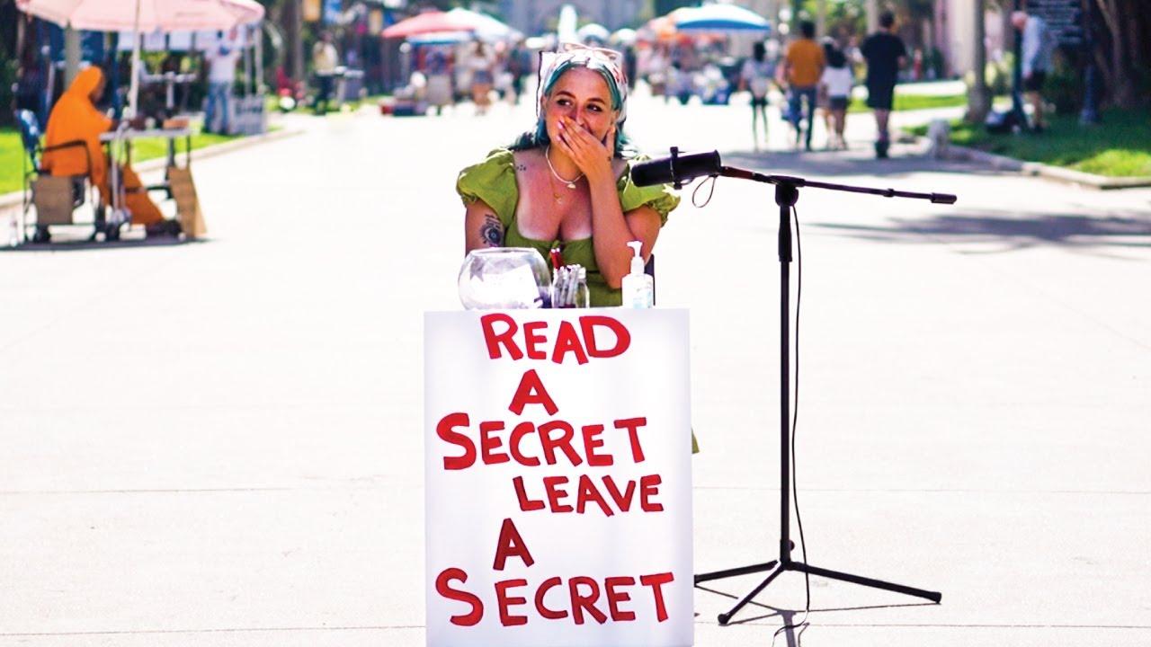 STRANGERS READ A SECRET, LEAVE A SECRET