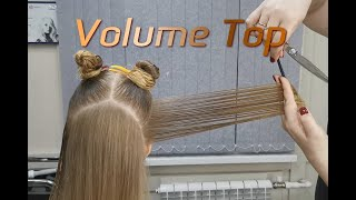Супер Каскад Volume Top Современный Каскад Градуированная стрижка на длинные волосы