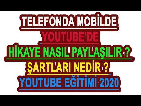 Telefonda Mobilde Youtube'de Hikaye Nasıl Paylaşılır Şartları nedir Youtube eğitimi 2020