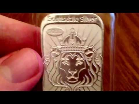 One Troy oz Niue bar! Amazing silver!
