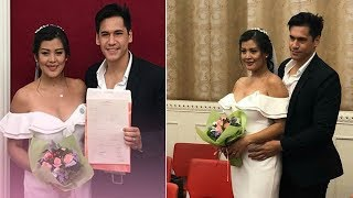 Kapuso actress Rich Asuncion ties the knot with rugby player Benjamin Mudie