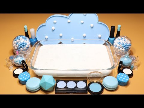 """Theme Series #5""""SKY""""Mixing EYESHADOW And glitter Into Fluffy Slime! """"SKYSilme"""""""