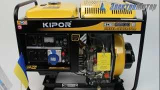 видео Дизельный генератор Kipor KDE6700TA3 с АВР