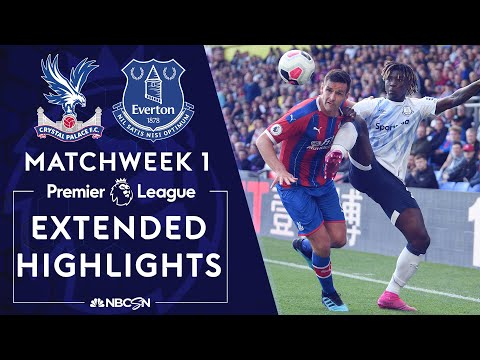 Crystal Palace v. Everton | PREMIER LEAGUE HIGHLIGHTS | 8/10/19 | NBC Sports