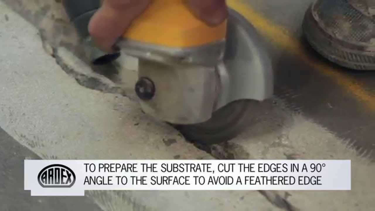 ARDEX Crack Repair  How to Repair Cracks and Spalls in