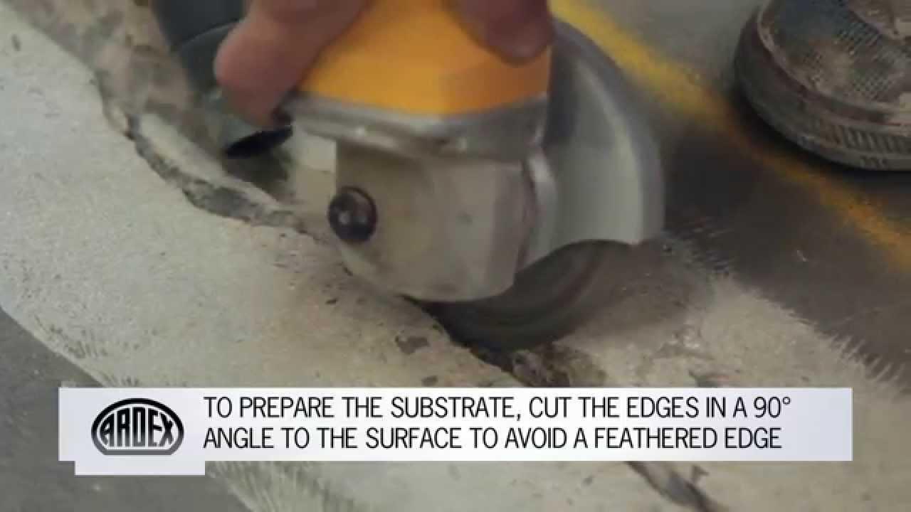 Ardex Crack Repair How To Repair Cracks And Spalls In