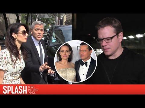 Matt Damon, George Clooney and More Celebs React to Brangelina's Split  Splash  TV