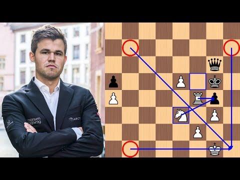 Positional Queen Sac | Magnus Carlsen vs David Navara - 2018 Biel Chess Festival