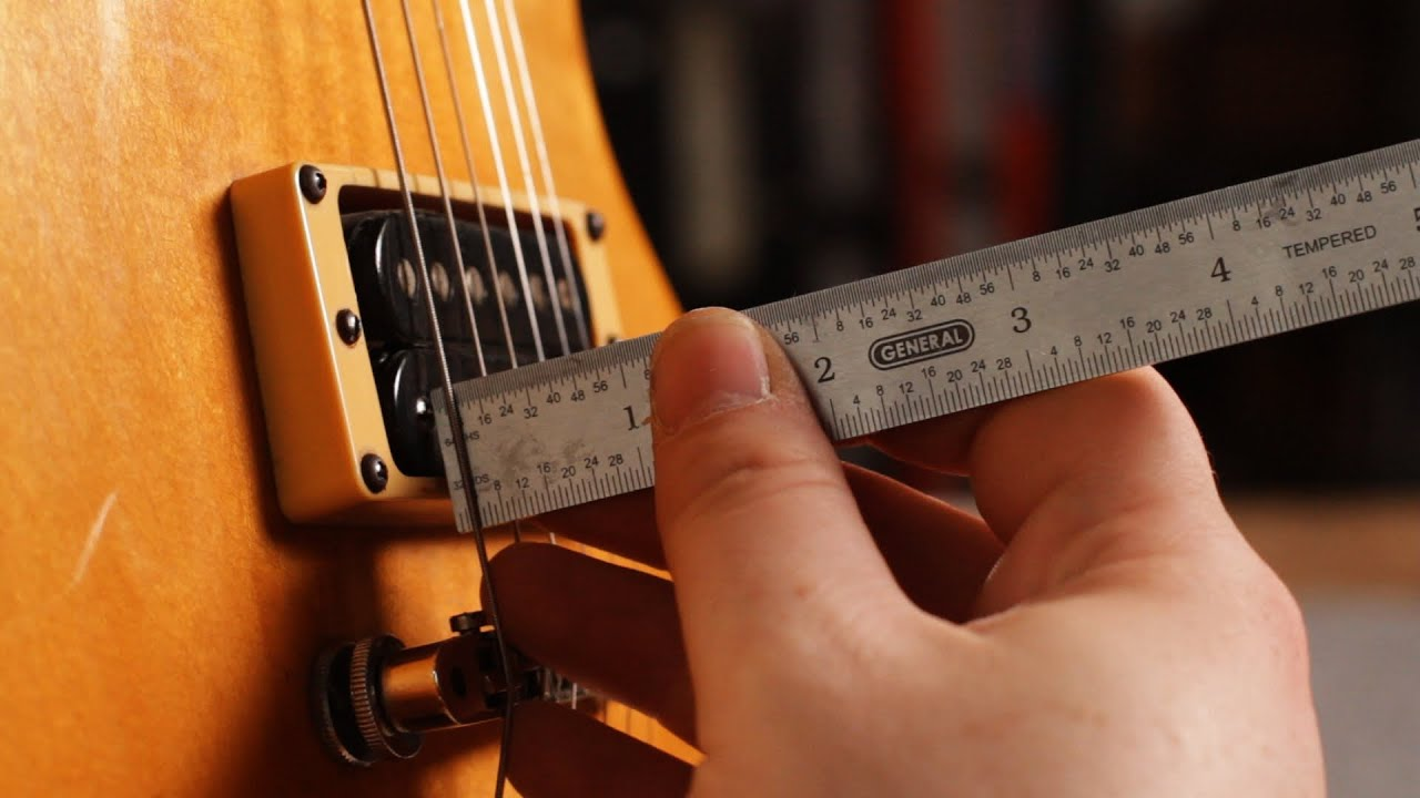 how to set pickup height on a les paul guitar setup [ 1280 x 720 Pixel ]