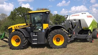 JCB 4220 BIG BALING SILAGE FENDT 516 WRAPPING