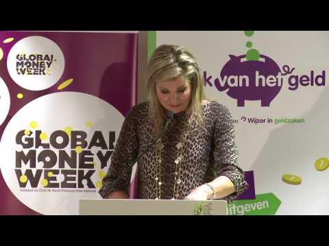 Koningin Máxima woont workshops bij tijdens Global Money Week