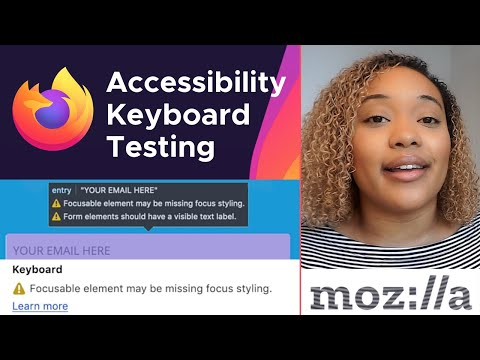 Test Keyboard Accessibility Using The Firefox Accessibility Inspector
