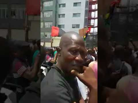 Biafrans in Gabon rally today at the united nations office Libreville   Protesting against the killi