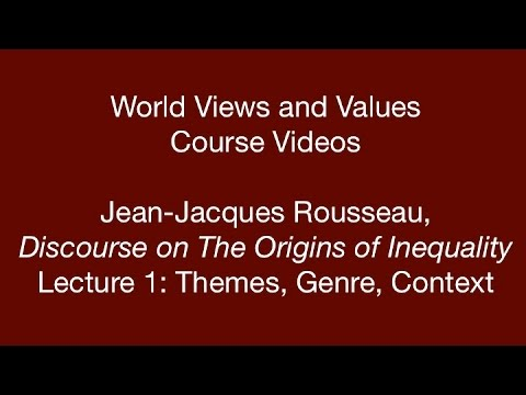 the original man in the genesis and the discourse on inequality by rousseau